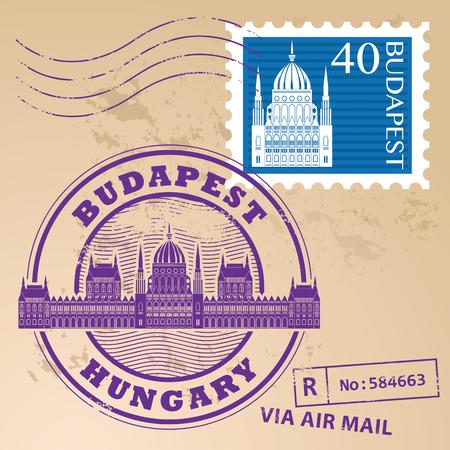 Grunge Stempel mit Worten Budapest, Ungarn innen gesetzt