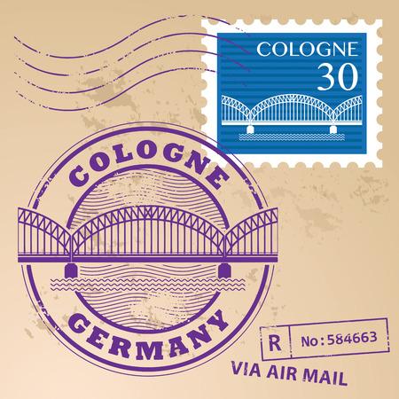 cologne: Grunge rubber stamp set with words Cologne, Germany inside Illustration