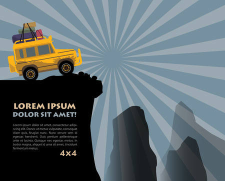 offroad: Off-road vehicle background Illustration
