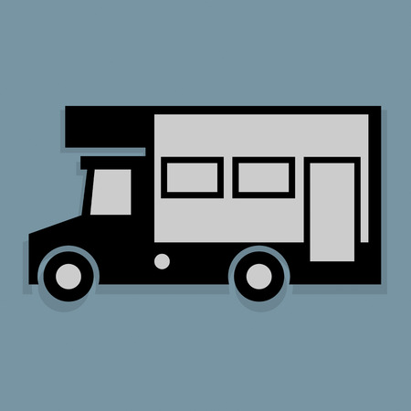 Camper icon or sign Vector