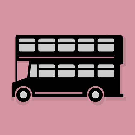 London bus icon or sign Vector