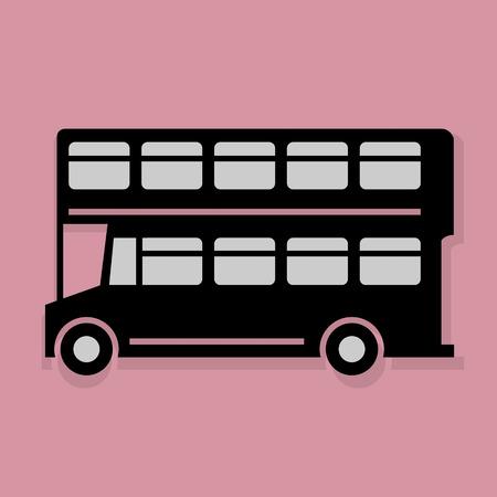 londres autobus: Londres icon autob�s o signo