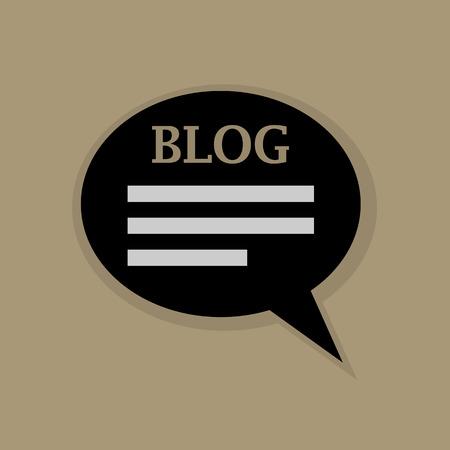 communicatio: Blog icon or sign Illustration