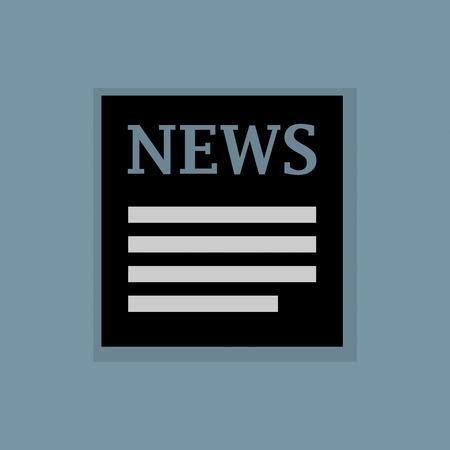 icone news: Nouvelles ic�ne ou un signe Illustration