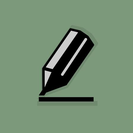 sharpen: Pencil icon or sign Illustration