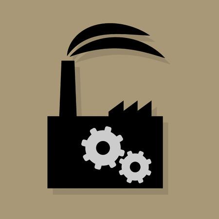 electricidad industrial: Icono de fábrica o de signo Vectores