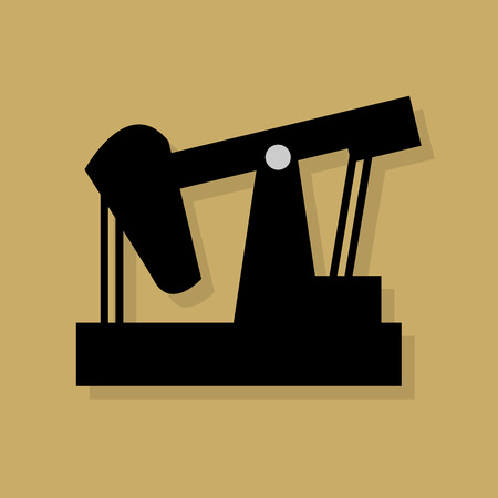 crude: Oil industry icon or sign Illustration