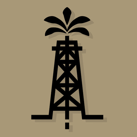 borehole: Oil industry icon or sign Illustration