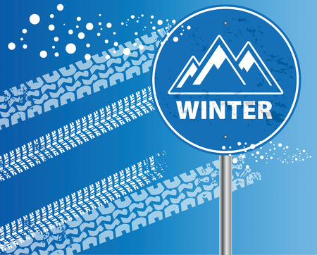 Winter mountain abstract Vector