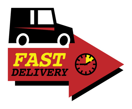 Delivery car sign or symbol Vector