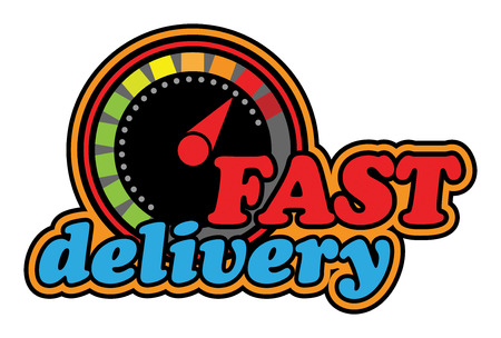 fast driving: Delivery sign or symbol
