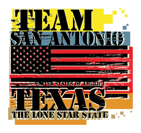 Grunge rubber stamp with name of Texas, San Antonio Vector