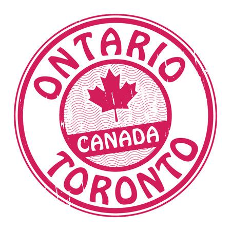 ontario: Grunge timbro di gomma con il nome di Canada, Ontario e Toronto scritto all'interno del francobollo