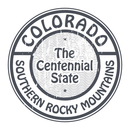 colorado mountains: Grunge rubber stamp with name of Colorado, Southern Rocky Mountains
