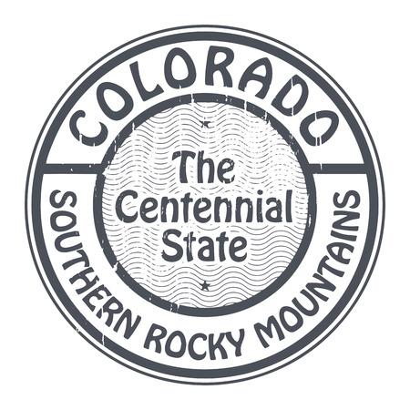colorado rocky mountains: Grunge rubber stamp with name of Colorado, Southern Rocky Mountains
