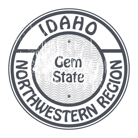 northwestern: Grunge rubber stamp with name of Idaho, Northwestern Region Illustration