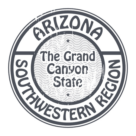 grand canyon: Grunge rubber stamp with name of Arizona, Southwestern Region