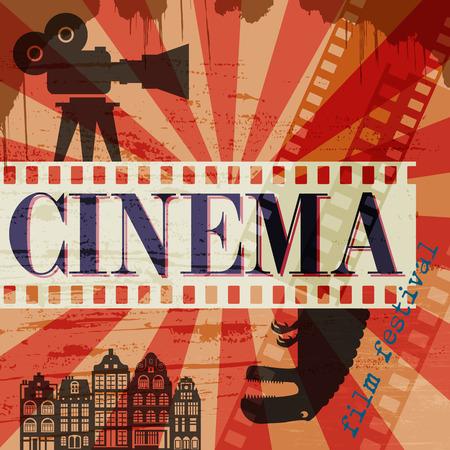 Retro cinema poster Ilustrace