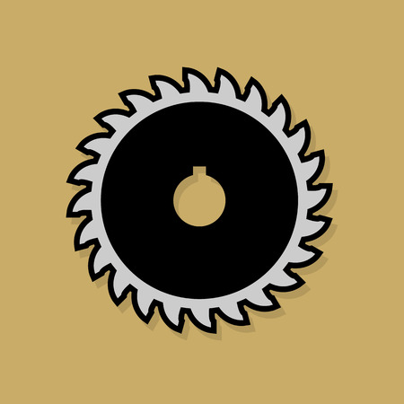 woodworking: Tools icon or sign Illustration