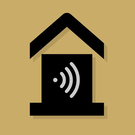 mobile home: House service icon or sign Illustration