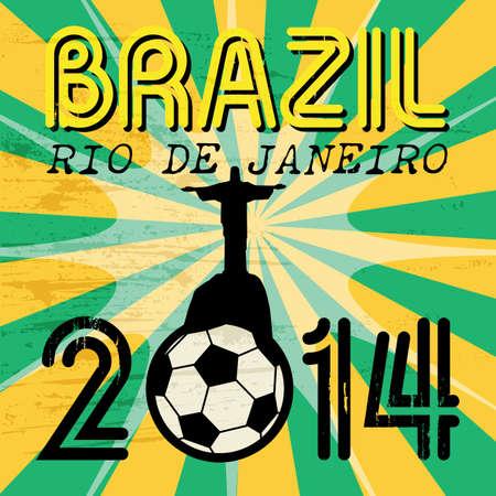 crist: Football background with words Brazil, Rio de Janeiro