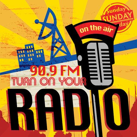 retro radio: Vintage Radio poster
