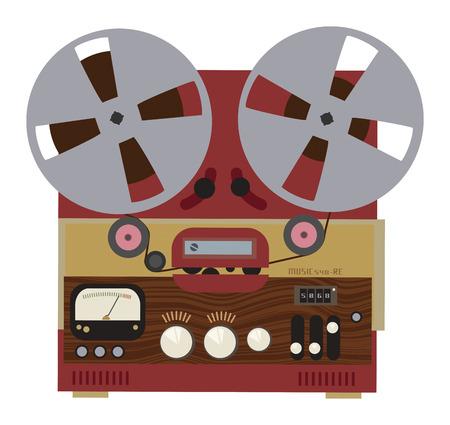 magnetofon: Vintage analogowe stereo bębnowy na rolce magnetofonu