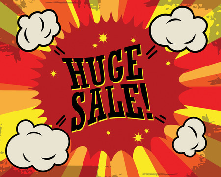 attention icon: Huge sale label