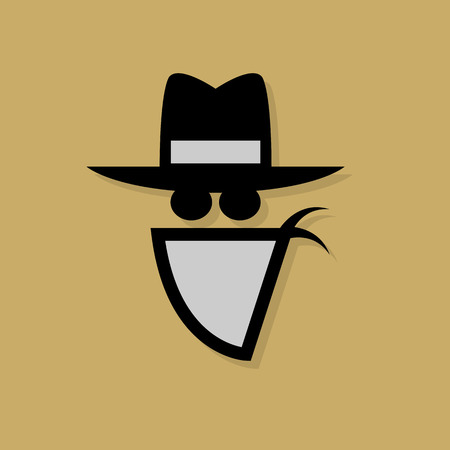Cowboy icon or sign Vector