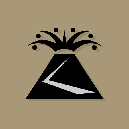 Volcano icon or sign Vector