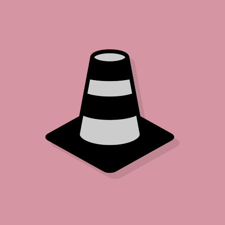 Construction Cone icon or sign Vector