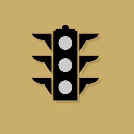 Signal lights icon or sign Vector