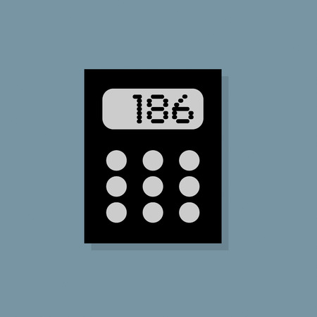 maths department: Calculator icon or sign