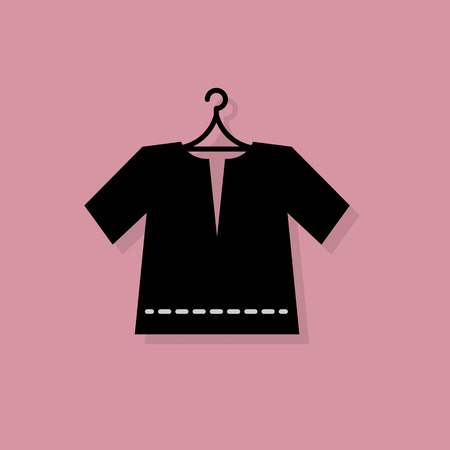 show case: Clothes icon or sign