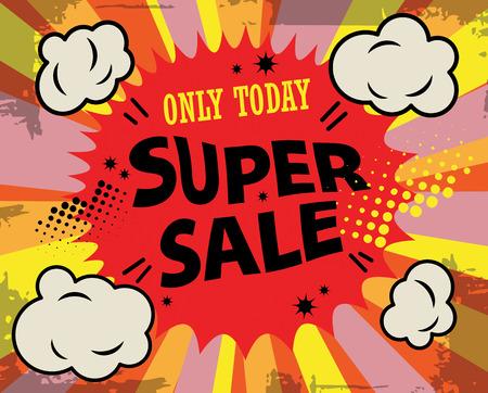 super market: Super sale label