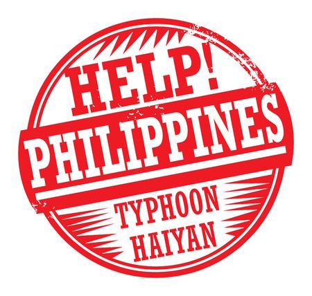 Grunge Stempel mit dem Text helfen Philippinen innerhalb der Stempel geschrieben