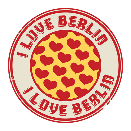 Stamp with text I love Berlin Vector