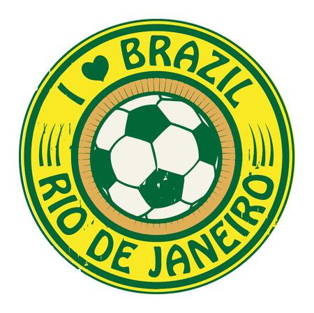 Grunge stamp with words Brazil, Rio de Janeiro Vector