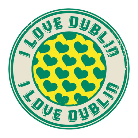 Stamp with text I love Dublin Vector