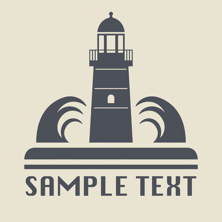 lighthouse beam: Lighthouse icon or sign