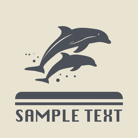 dolphin silhouette: Dolphin icon or sign