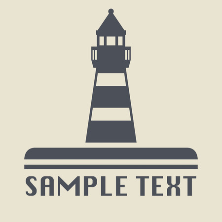 MARITIME: Lighthouse icon or sign