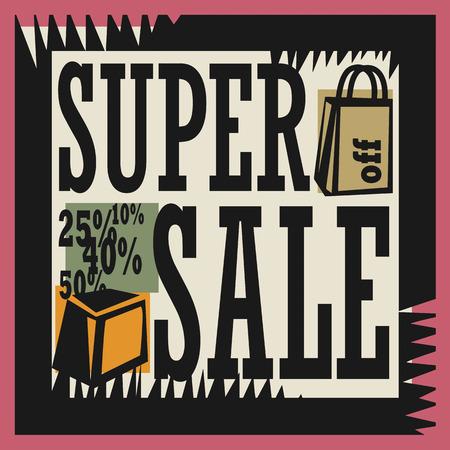 sensational: Abstract Sale sign