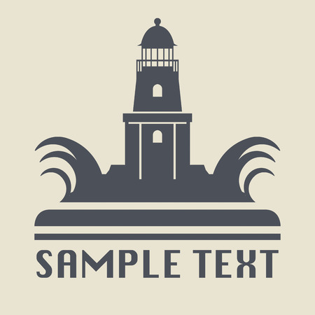 Lighthouse icon or sign Vector