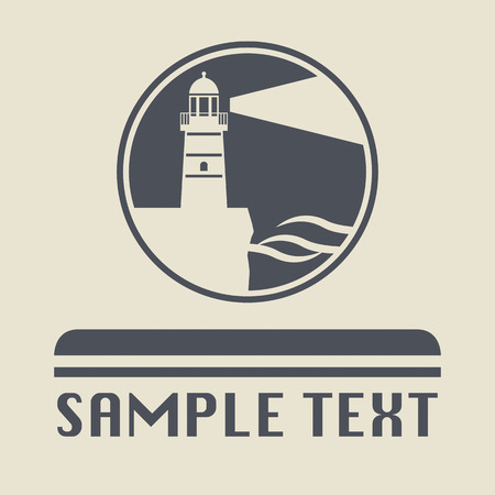 Lighthouse icon or sign