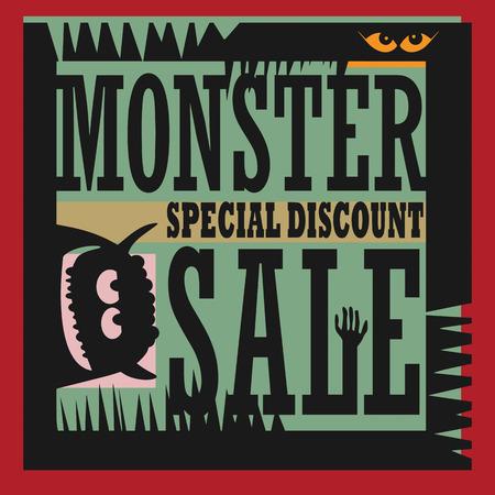 sensational: Abstract Monster Sale sign