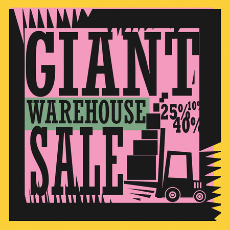 Giant warehouse sale sign Vector