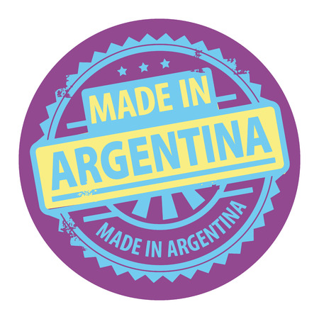 buenos aires: Abstract grunge rubber stamp with the text Made in Argentina written inside the stamp Illustration