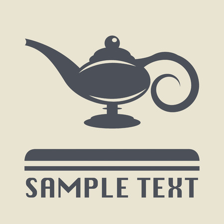 aladdin: Lamp Aladdin icon or sign Illustration