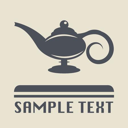 Lamp Aladdin-Symbol oder Zeichen Illustration